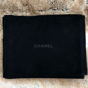 Authentic Designer Chanel soft Jewelry Case